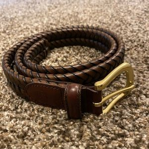 Men's leather braided Fossil belt